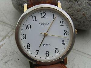 【送料無料】腕時計 キャリッジアフィンブレスレットcarriage,ancienne montre us seventies mixte ,cadran affin,bracelet croco