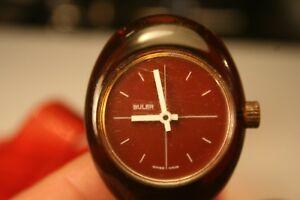 【送料無料】腕時計 ブラービンテージハンドグラスファイバースイスbuler vintage handaufz fieberglas 1970er dau 17 jewels swiss made kultuhr