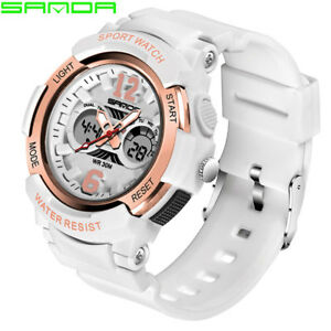 【送料無料】腕時計 スポーツウォッチデジタルsanda electronic sport watch women watches ladies led digital wristwatch for