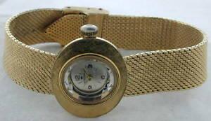 【送料無料】腕時計 ビンテージゴールドストンジュエルvintage womens heritage gold tone wristwatch 1 jewel