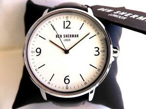 【送料無料】腕時計 ボックスブラックレザーストラップベンシャーマン