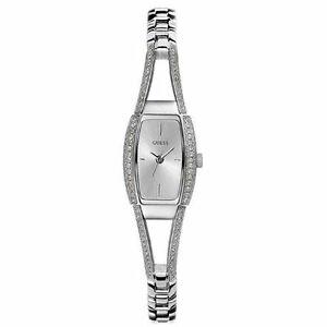 腕時計 シルバートーンステンレススチールクリスタルウォッチ authentic guess g85633l women silvertone stainless steel crystal watch  nwt