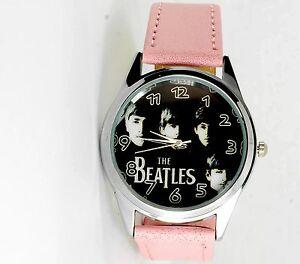 【送料無料】腕時計 ザビートルズスチールロックミュージックラウンドピンクウォッチウォッチ