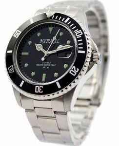 【送料無料】腕時計 ステンレススチールウォッチmen stainless steel water resistant watch