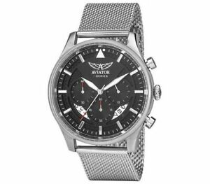【送料無料】腕時計 シリーズ#ステンレススチールクロノグラフウォッチaviator fseries avw1604g343 men039;s stainless steel chronograph watch