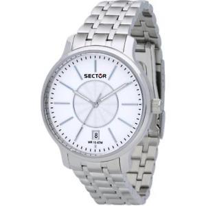 【送料無料】腕時計 セクターサブメートルorologio uomo sector 125 r3253593504 bracciale acciaio bianco sub 100mt
