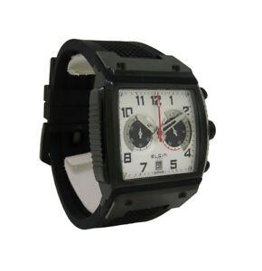 【送料無料】腕時計 メンズホワイトアナログブラックシリコンウォッチ