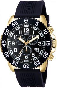 【送料無料】腕時計 メンズプロダイバークロノグラフブラックラバーストラップウォッチ
