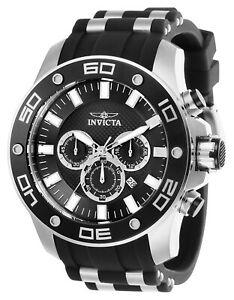 【送料無料】腕時計 メンズプロダイバークロノスチールシリコーンストラップウォッチinvicta 26084 mens pro diver chrono steel amp; silicone strap watch