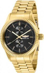 【送料無料】腕時計 メンズクロノグラフゴールドトーンステンレススチールウォッチinvicta mens specialty quartz chrono gold tone stainless steel watch 29427