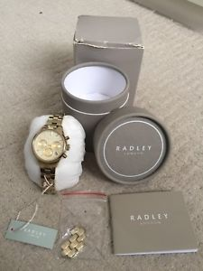 【送料無料】腕時計 ゴールドクロノグラフウォッチradley women's gold chronograph watch ry4118 discontinued excellent condition