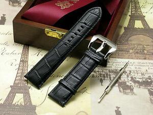 【送料無料】腕時計 クロコダイルウォッチストラッププレバックルスプリングバーツールエンボス