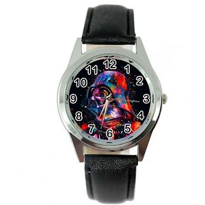 【送料無料】腕時計 スターウォーズスターウォーズダークベイダースチールブラックレザームービーウォッチ