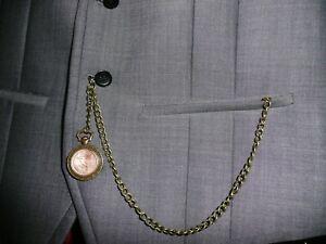 【送料無料】腕時計 ブロンズアルバートポケットウォッチチェーンホブバー