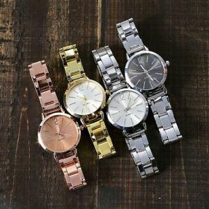 【送料無料】腕時計 レディースクォーツアナログクラシックウォッチステンレススチールベルトwomen watch classic alloy analog ladies quartz wristwatches stainless steel belt