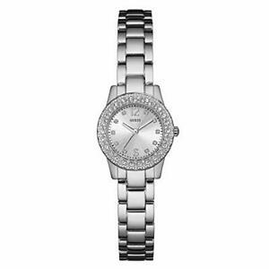 【送料無料】腕時計 クラシックステンレススチールストラップクオーツアナログguess womens analogue classic quartz watch with stainless steel strap w0889l1