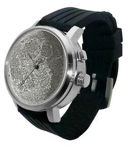 【送料無料】腕時計 ウォッチライトフェーズグローアストロスチールfull moon 3d lithophane watch led light, lunar dark side phase glow astro steel