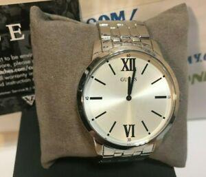 【送料無料】腕時計 #シルバートーンクラシックウォッチブランドguess 44mm men039;s silvertone classic watch u1073g1 brand