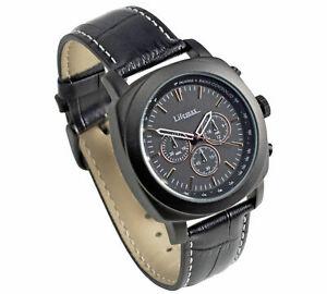 【送料無料】腕時計 クロノグラフブラインドlifemax chronograph atomic talking watch, real leather, blind, partially sighted