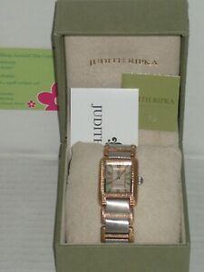 【送料無料】腕時計 ジュディスステンレススチールボックストーンレキシントンjudith ripka stainless steel 2tone lexington watch preowned in ex cd in jr box
