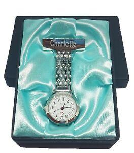 【送料無料】腕時計 カスタムナースフォブパーソナライズcustom nurse fob watch personalised beautician watch appreciation gift