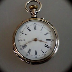 【送料無料】腕時計 レディースオープンポケットウォッチシルバーschne ene damentaschenuhr silber um 1900 48546