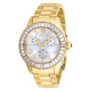【送料無料】腕時計 ステンレススチールゴールドトーンウォッチinvicta womens angel quartz 100m stainless steel gold tone watch 28452