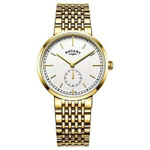 【送料無料】腕時計 ロータリーメンズカンタベリーブレスレット¥rotary gb0506202 mens canterbury gold plated bracelet watch rrp 105