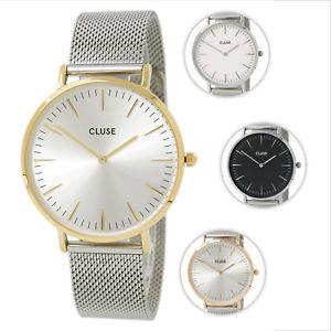 【送料無料】腕時計 ラステンレススチールメッシュブレスレットクォーツcluse la boheme womens stainless steel mesh bracelet quartz watch