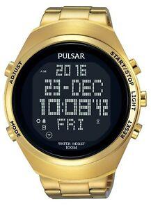 【送料無料】腕時計 パルサーゴールドブレスレットデジタルウォッチ×¥pulsar gents gold bracelet digital watch pq2056x1 rrp 225