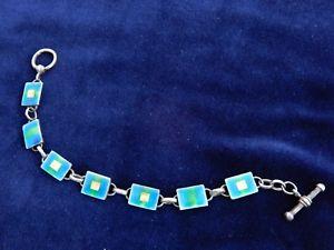 【送料無料】腕時計 スターリングシルバーエナメルウォッチ#アルバートブレスレットsterling silver and enamel single watch 034;albert034; poss bracelet, estate find item