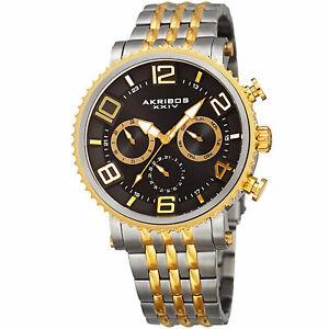 【送料無料】腕時計 #マルチトーンステンレススチールウォッチmen039;s akribos xxiv ak917ttg multifunction two tone stainless steel watch