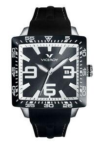 【送料無料】腕時計 ヴィセロイメンズスクエアホワイトインデックスゴム