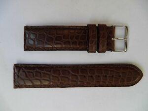 【送料無料】腕時計 ブレスレットポンポンクロコダイル#マロン#ゴールド#マット22 mm luxueux discret bracelet crocodile veritable 034;pompon034; marron 034;gold034; mat