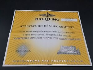 【送料無料】腕時計 ドbreitling attestation de chronometrie 2123334