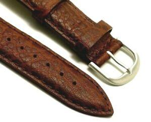 【送料無料】腕時計 バッファローレザーウォッチストラップフィット22mm brown quality leather buffalograin watch strap fit any watch 22mm