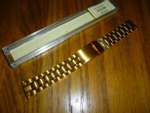 【送料無料】腕時計 メンズベラウォッチストラップラグmens bella gold plated watch strap 1622mm lugs anti allergy