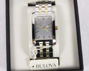 【送料無料】腕時計 クラシックトーンプラチナメッキメンズアナログbulova corporate classic 98a137 two tone plated mens analog watch wristwatch
