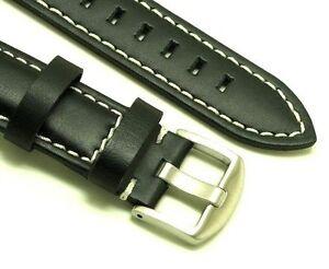 【送料無料】腕時計 ストラップコントラストステッチシルバーバックルスプリングバー