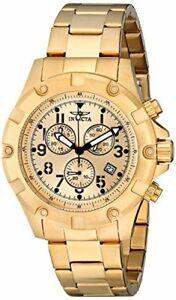 【送料無料】腕時計 メンズmmkゴールドウォッチ13619 invicta 45mm mens specialty 18k gold ionplated watch