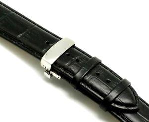 【送料無料】腕時計 ミリブラックスプリングバーエンボスレザーウォッチストラップクラスプ
