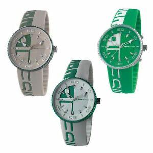【送料無料】腕時計 orologio solo tempo uomo momo design jet alliminium alluminio silicone verde
