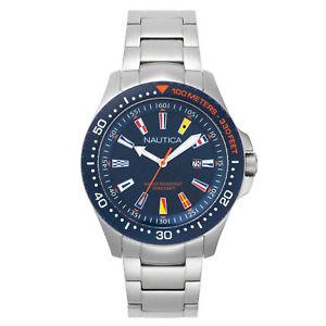 【送料無料】腕時計 ジョーンズビーチメンズステンレススチールウォッチ nautica mens jones beach stainless steel watch
