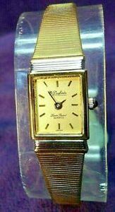 【送料無料】腕時計 バッテリーブレスレット battery~dufonte lucien piccard gold plated womens quartz bracelet watch