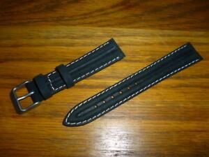 【送料無料】腕時計 メンズリブパッドレザーストラップラグウォッチ