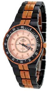 【送料無料】腕時計 ラージローズゴールドトーンブラックセラミックウォッチ