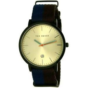 【送料無料】腕時計 テッドベーカー#ナイロンストラップウォッチted baker 10026451 men039;s quartz blue amp; brown nylon strap watch