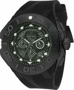 【送料無料】腕時計 クロノグラフブラックシリコンウォッチ