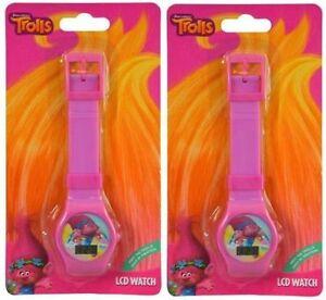 【送料無料】腕時計 ドリームワークスポピーパーティーデジタルdream works trolls poppy 2 pc digital lcd watch for girls birthday party