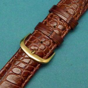 【送料無料】腕時計 ライトブラウンウォッチストラップゴールドトーンバックルフィット